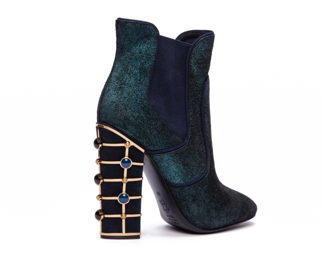 TB Azure 115mm Bootie-Stardust Metallic Lthr in Deep Sea-Bright Navy (3)