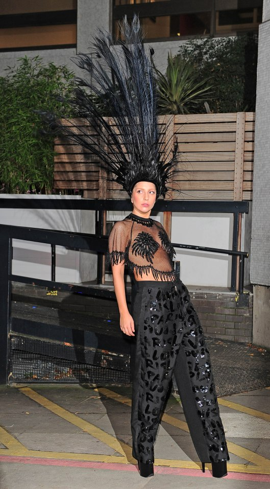 Lady Gaga Leaving ITV Studios - London
