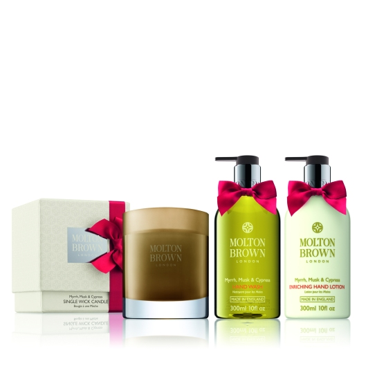 LIMITED EDITION Molton Brown Myrrh Musk & Cypress - group shot