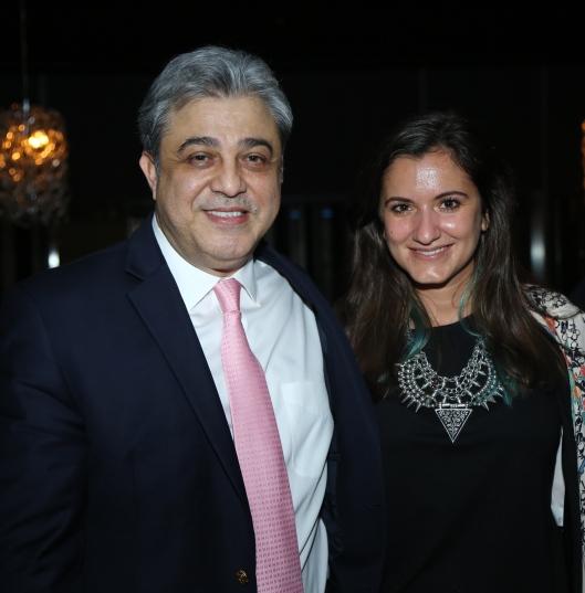 Rachid Mtaini and Marie Akilian