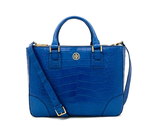 TB Robinson Double Zip Tote in Ultramarine